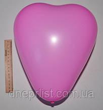 """Воздушный шарик """"сердце"""", розовый / ПОШТУЧНО"""