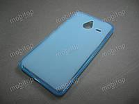 Полимерный TPU чехол Microsoft Lumia 640 XL (голубой), фото 1