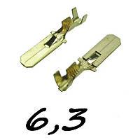 Коннектори плоскі без ізоляції ПАПА 6.3 C (1,5-2,5) 1шт