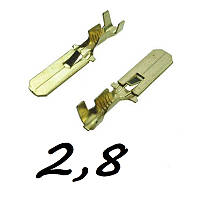 Коннектори плоскі без ізоляції ПАПА 2.8 B (1-1,5) 1шт
