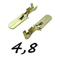 Коннектори плоскі без ізоляції ПАПА 4.8 B (1-1,5) 1шт