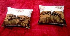 "Подушка  ""Англия"" коричневая, размер 40х40см , фото 3"