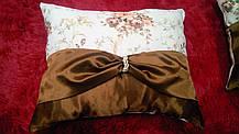 """Подушка """"Англія"""" коричнева, розмір 40х40см, фото 2"""