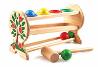 Деревянная игрушка Стучалка с шариками маленькая
