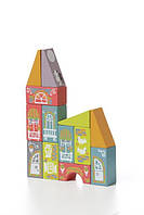 Детский деревянный конструктор — Сказочный город LKM-1 на 13 деталей. TM Cubika