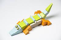 Деревянный конструктор «Крокодил-акробат» LA-2 TM Cubika