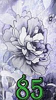 Тюль органза цветы Серебро