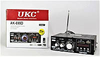 Усилитель AMP AK-699D UKC, проигрываем любимую музыку, читает usb-флешки, пульт дистанционного управления
