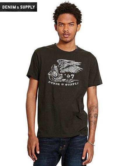 Мужская футболка Polo Ralph Lauren - Faded Black Canvas