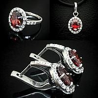 Комплект серебряный Княгиня