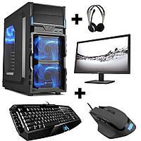Gamer PC Komplett-Set AMD A8 7600 4x 3,8 Ghz Radeon R7 8GB 1TB Gaming  4 в одном (системный блок, монитор, ..)