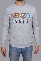 Толстовка Kenzo серого цвета