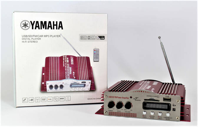 Усилитель звука AMP 100, различные сферы деятельности для усиления мощности звука, караоке на 2 микрофона, фото 2