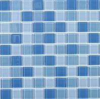 Мозаика голубая с белым Vivacer CMmix02R