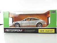 Машина металлическая Audi A7, 68248A АВТОПРОМ, свет, звук