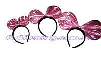 """Обруч """"Бантик"""" розовый блеск, 0900-107"""