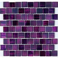 Мозаика стеклянная с авантюрином Vivacer DAF103 фиолетовая