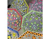 Зонт детский, 6 видов, матовая клеенка с рисунком, со свистком, 47-EVA-1