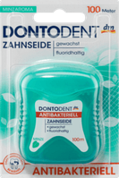 Зубная нить антибактериальная DONTODENT Zahnseide antibakteriell, 100 m
