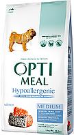 Корм для собак средних пород с лососем Optimeal Dog Adult Medium Hypoallergenic, 0,65 кг