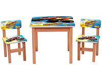 Столик OPT-F196 (деревянный, 60-60см, 2 стульчика)