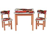 Столик OPT-F194 (деревянный, 60-60см, 2 стульчика)