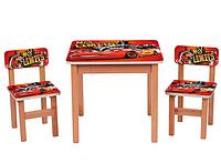 Столик OPT-F193 (деревянный, 60-60см, 2 стульчика)