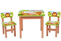 Столик OPT-F192 (деревянный, 60-60см, 2 стульчика)