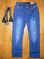 Джинсовые брюки  для мальчиков оптом, Seagull, 98-128 рр.