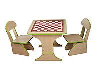 Игровой столик растущий +2 стульчика, Шахматы 302 *фп