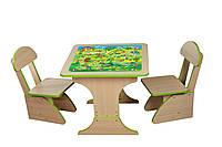 Игровой столик растущий +2 стульчика, Игра 303 *фп