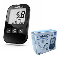 Глюкометр GluNeo Lite (ГлюНео Лайт) + 50 тест полосок