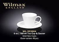 Wilmax Чашка чайная и блюдце 180мл, WL-993004 (158240) /П1