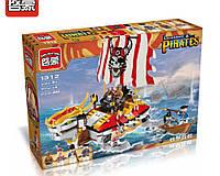 Конструктор BRICK 1312  пиратский корабль, 4 фигурки, 464 детали