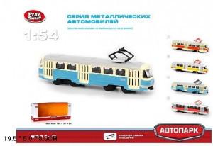 """Модель Трамвай металлический """"АВТОПРОМ"""",  6411C"""