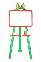 Мольберт для рисования магнитный (для мела и маркера), оранжевый, 013777/3