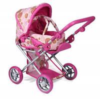 Коляска для куклы 2 в 1 с люлькой TODSY «Mary» розовая 9346P /Ю