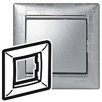 Рамка Valena 1 пост алюминий модерн Legrand 770341