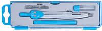 Готовальня BASIS 4 предмета, голубая ZB.5303BS-14
