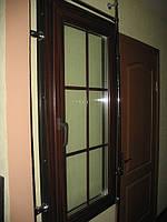 Окна KOMMERLING цвет махагон