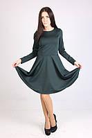 Стильное темно-зеленое платье хорошего качества