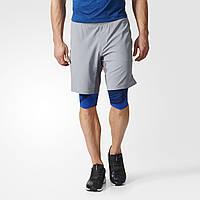 Спортивные шорты для ежедневных тренировок Adidas Crazytrain Two-in-One BK6164 - 2017