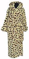 Халат Махровый Длинный цвет: леопардовый