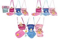 Пупс музыкальный 3 вида, с сумкой, одеялом, 0825I-13