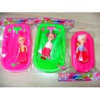 Кукла 10см с ванночкой и кроваткой, B101-103