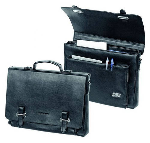 Портфель-сумка мягкий деловой Professional  831.10 черный