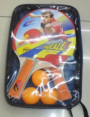 Набор для настольного тениса: ракетки (1,1см, цветная ручка) + 3мяча + сетка, BT-BPS-0030 - Товары для всей семьи ОПТОМ в Днепропетровской области