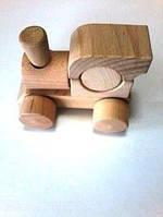 Игрушка деревянная Паровозик без веревки, в ассортименте, Руди, ду-01рк
