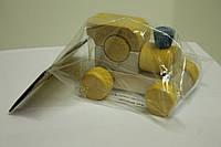 Развивающая деревянная игрушка Паровозик Малыш Руди, Ду-02ж