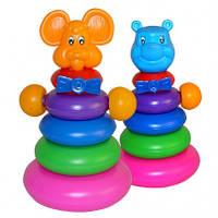 Детская игрушка пирамидка-качалка Медведь, МР 11018